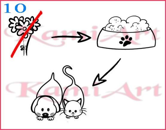 rebus karma dla zwierzaków