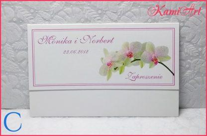 zaproszenia ślubne orchidea