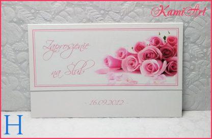 zaproszenia ślubne z kwiatami