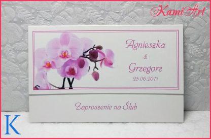 zaproszenia ślubne z orchideą