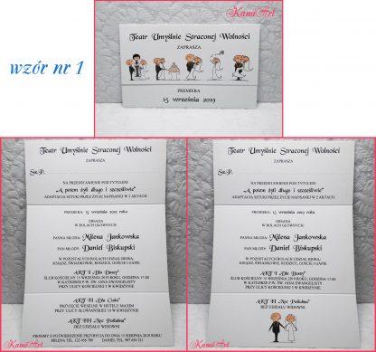 teatr zaproszenia ślubne