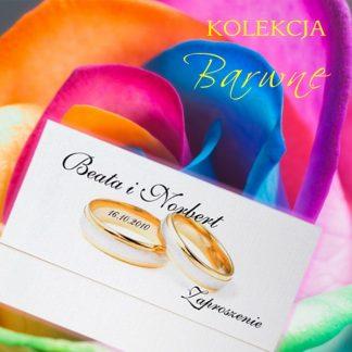 barwne zaproszenia ślubne