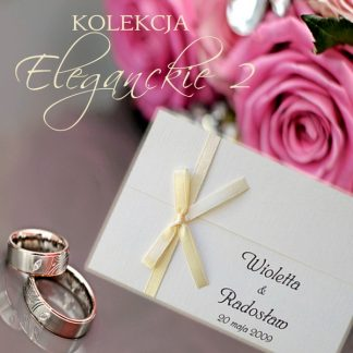 Eleganckie II - zaproszenia ślubne