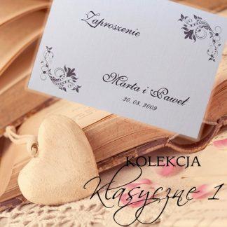 Klasyczne I - zaproszenia ślubne