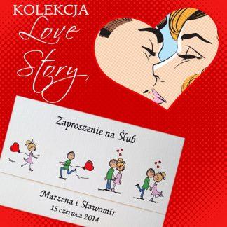 zaproszenia ślubne Love Story