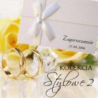 Stylowe II - zaproszenia ślubne