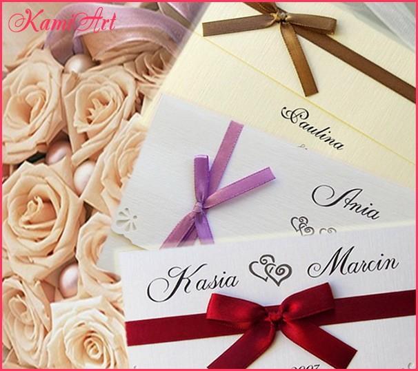 Zaproszenia ślubne 2019