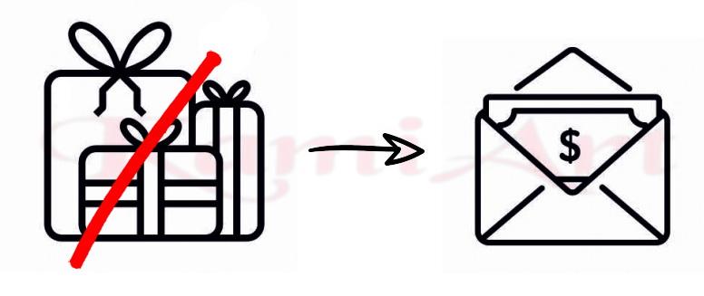 pieniądze zamiast prezentu