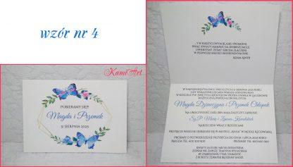 zaproszenia ślubne wzory